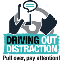 Driving out distraction logo